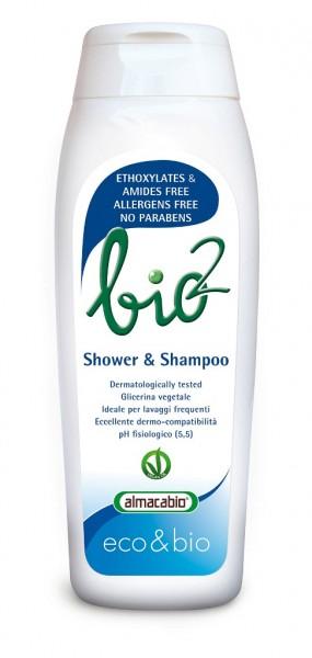 Duschgel & Shampoo der bio2 Linie