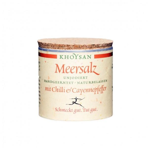Khoysan Meersalz - Chilli und Cayennepfeffer, 200g