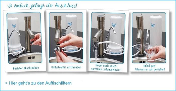 Aktivkohle-Wasserfilter-Auftischfilter